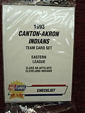 1993 CANTON-AKRON INDIANS FLEER / PRO CARDS FACTORY SEALED SET - M. RAMIREZ
