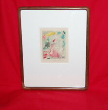 Jacques Villon French Print A Pomes Rompus 1960 Etching Aquatint Edition 50