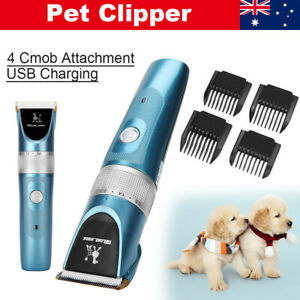 Professional Dog Clippers Grooming Cordless Electric Pet Hair Shaver Trimmer Kit