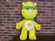 "32"" YELLOW CARE BEAR WITH GREEN CAPE AND MASK"