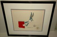 Bugs Bunny Cel Warner Bros Original 1001 Rabbit Tales Signed Friz Freleng Cell