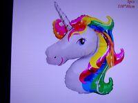 Unicorn Party Mylar Balloon Birthday Baby Shower Decoration Supplies Big