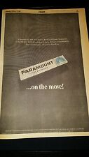 The Brady Bunch Rare 1969 Paramount Studios Production Promo Poster Ad!