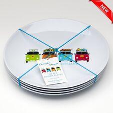 Camper Smiles Dinner Plate x 4