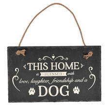 Blessed With A Dog Hanging Slate Plaque Sign Gift New Say It With Slate Range
