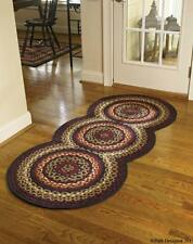 "FOLK ART BRAIDED COUNTRY AREA RUG RUNNER BY PARK DESIGNS LARGE 30""x72"" CIRCLES"