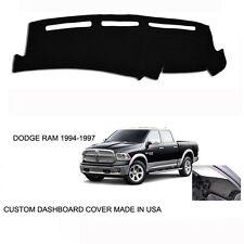 New Dodge Ram 1500 2500 Truck Custom Black Dashboard Dash Cover 1994-1997