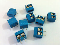 50pcs 2 Pin Screw Terminal Block Connector 5mm Pitch B