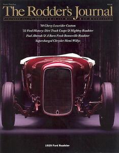 No. 34 Subscriber Cover A 1929 Ford Roadster RODDERS JOURNAL
