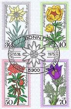 BRD 1975: Alpenblumen! Wohlfahrtmarken Nr. 867-870!  Bonner Ersttagsstempel! 153