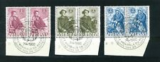 Belgium 1960 World Refugee Year full set of stamps in pairs. Used Sg 1716-1719