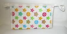 White Plastic Ladies Zippered Wallet with Flowers NWT