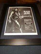 Rick James Mary Jane Rare Promo Poster Ad Framed!