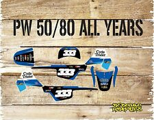 YAMAHA PW 50 PW 80 FULL GRAPHICS KIT-STICKERS-DECALS-MX-MOTOCROSS CYCLE