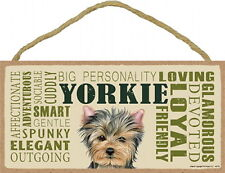 Yorkie (YorkshireTerrier) Subway Style 5 X10 hanging Wood Sign made in the Usa