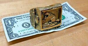 "Rare M.I.T. Oversize Commemorative ""Brass Rat"" Class Ring"