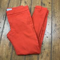 Gap Ultra Skinny Womens 00R Chino Ankle Pants Killer Tomato Red Stretch