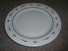 "Longaberger Pottery, ""Luncheon Plate"" Heritage Green, Made in Usa, Pre-Owned"