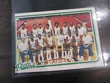 1980-81 Topps  #5 DETROIT PISTON NBA Mini Poster Team Pin Ups