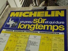 PLAQUE MICHELIN EN PLASTIQUE DUR tourisme camionnette MICHELIN