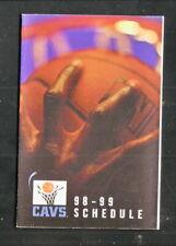 Cleveland Cavaliers--1998-99 Pocket Schedule--Fox Sports Ohio