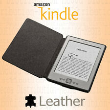 "Genuine Amazon Kindle 6"" E-INK 4th + 5th Generation Real Leather Cover Case"