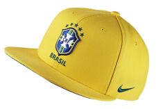 NIKE Brasil Core Snapback Adjustable Cap Adult One Size Yellow Brazil Soccer