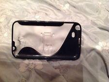 2 Caja Del Teléfono Negro Samsung Note Con Soporte