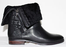 ✿ ANN TAYLOR Flora Quilted Fold-Over Leather Shearling Boot 7 M NEW! $298 L@@K!