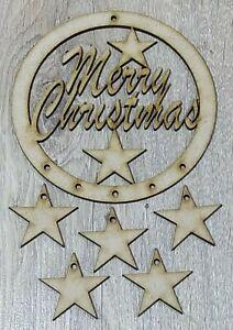 "MDF Dream Catcher ""Merry Christmas"" (L) DIY Kit, Make Your Own, Embellish, Paint"