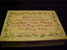 Blessed is The Season Holly Frame Wood Mounted Stamp  All Night Media