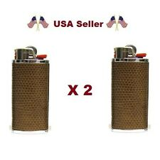 """2-5(select) BIC """"HIDEZ"""" Reg Simulated Leather Case Lighter (Lighter Not Included"""