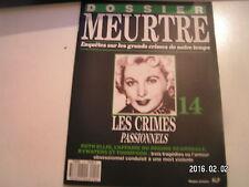 ** Dossier meurtre n°14 Ruth Ellis les crimes passionnels