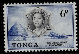 TONGA QEII SG108, 6d black & deep blue, VLH MINT.