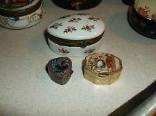 Three small pill boxes Cloisonee Portrait