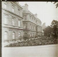 Parigi Palais Giardino Ca 1900 Foto Stereo Placca Da Lente VR12hb