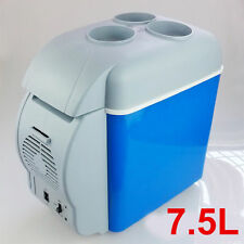 12V Blue Car Small Refrigerator Mini Fridge Cooler / Warmer -7.5 L
