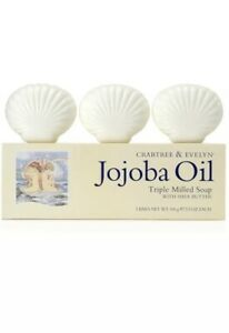 Crabtree and Evelyn Jojoba Oil Triple Milled Soap with Shea Butter 100g X3 Rare