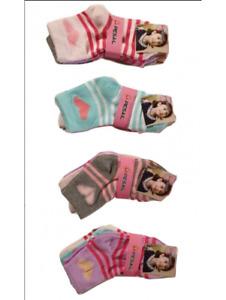 12 paires chaussettes enfant ,chaussettes filles 90% coton