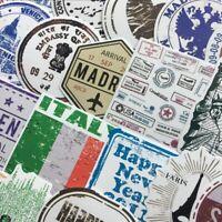 60pcs PVC Stickers Waterproof Airmail Postmark Graffiti Decals DIY Tools
