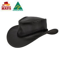 Newcastle Hats Murray Hat Leather Wide Brim