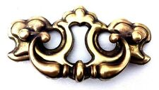 "antique hardware vintage drawer pull brass Chippendale batwing 2 1/2"" centers"