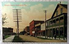 Postcard Street Scene Manatee Avenue Bradentown Florida #c2j