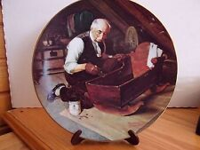 """Vintage Norman Rockwell Plate """"Grandpa'S Gift"""" Plate"""
