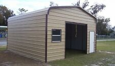 18 x 21 x 9 Metal Building Delivered/Installed - One car garage & storage space