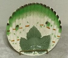 "French Niderviller Majolica Large Asparagus Plate VGC 10.5"" Vibrant Color France"