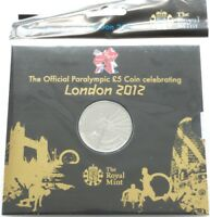 2012 Royal Mint London Paralympic Olympic Games BU £5 Five Pound Coin Sealed