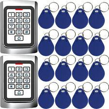 Wasserdichte Tastatur für die Zugangskontrolle + 20 RFID-Schlüsselanhänger DE