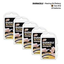 Duracell Size 312 Hearing Aid Batteries Packs of 4 (20 Cells Total) Fresh