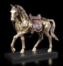 Große Pferde Figur - Araber mit Sattel | Veronese XXL Bronze-Optik H 50 cm